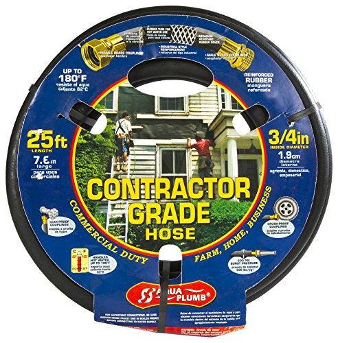 Aqua Plumb Contractor Grade Hose - Commercial Duty for Farm, Home, and Business (25 Foot)