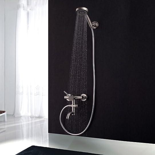 GAO Robinet salle de bain douche cuivre pivotant 304 en acier