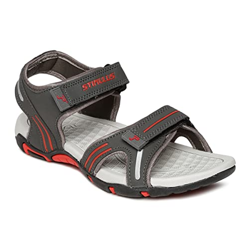 7c697b424 PARAGON Stimulus Men s Grey Sandals  Buy Online at Low Prices in India -  Amazon.in