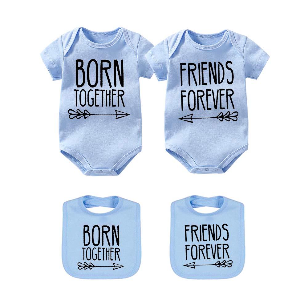 Pelele para beb/é con Texto en alem/án Beste Freunde F/ür Immer Fun Baby Geschenke Geburt Erstausstattung 2 Baby L/ätzchen culbutomind