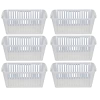 30cm Clear Plastic Handy Basket Storage Basket - Set Of 6
