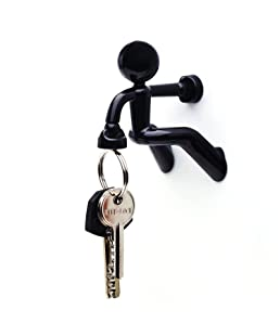 Set of 2 Refrigerator Fridge Key Magnet Holder with Wall Climbing Man Design and Strong Magnet Key Holder Hook Rack Magnet for Home Office Present Decoration by TheBigThumb