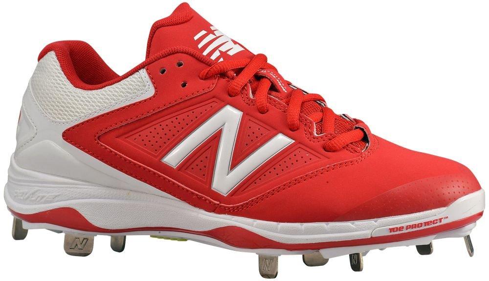 [ニューバランス] New Balance 4040v1 Metal Low レディース ベースボール [並行輸入品] B0711TGGRL US08.0|レッド/ホワイト レッド/ホワイト US08.0