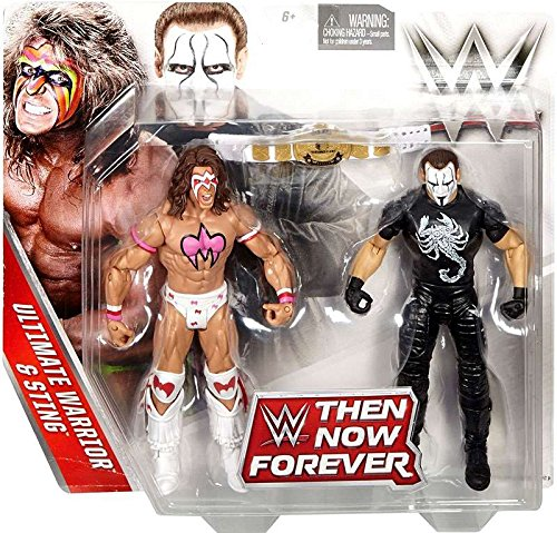 WWE, Basic Series, 2016 Then Now Forever, Ultimate Warrior and Sting Action Figures ()