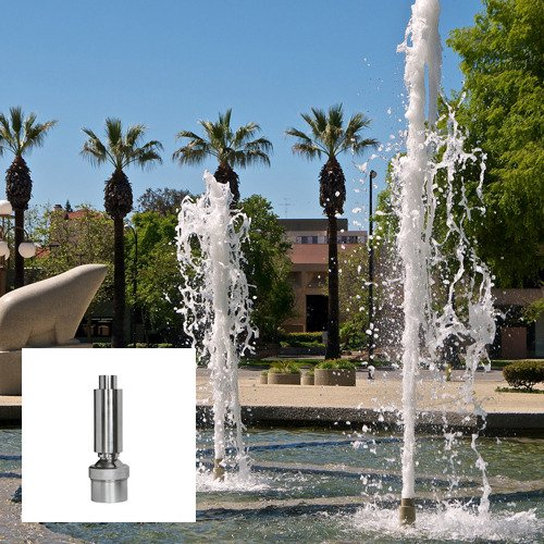 Aquacade Fountains Stainless Steel DN50 2'' Geyser Fountain Nozzle