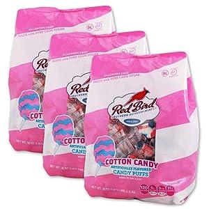 Red Bird Cotton Candy Puffs 3-30 oz bags