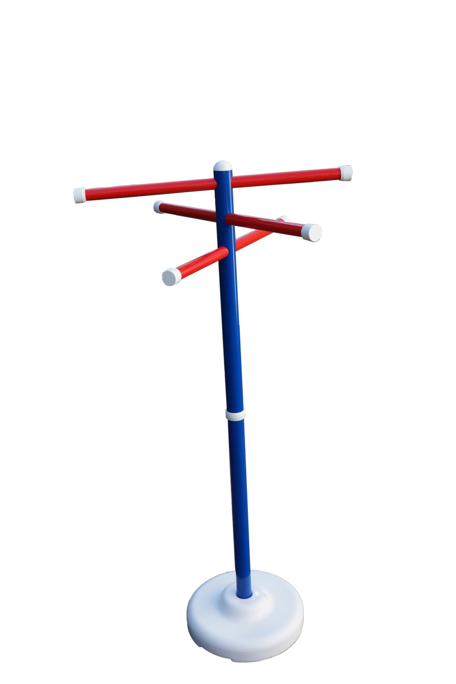 Outdoor Lamp Company Patriotic Spa and Pool Towel Rack. This Red, White and Blue Portable Towel Holder is Proudly Made in the USA!