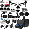 DJI Inspire 1 Pro Quadcopter with eDigitalUSA Ultimate Flight Kit: Includes 1 Remote, Go Professional Hard Case, 4 Batteries with Charging Hub, 4 Piece Filter Kit, 4 x Spare Propellers and more...