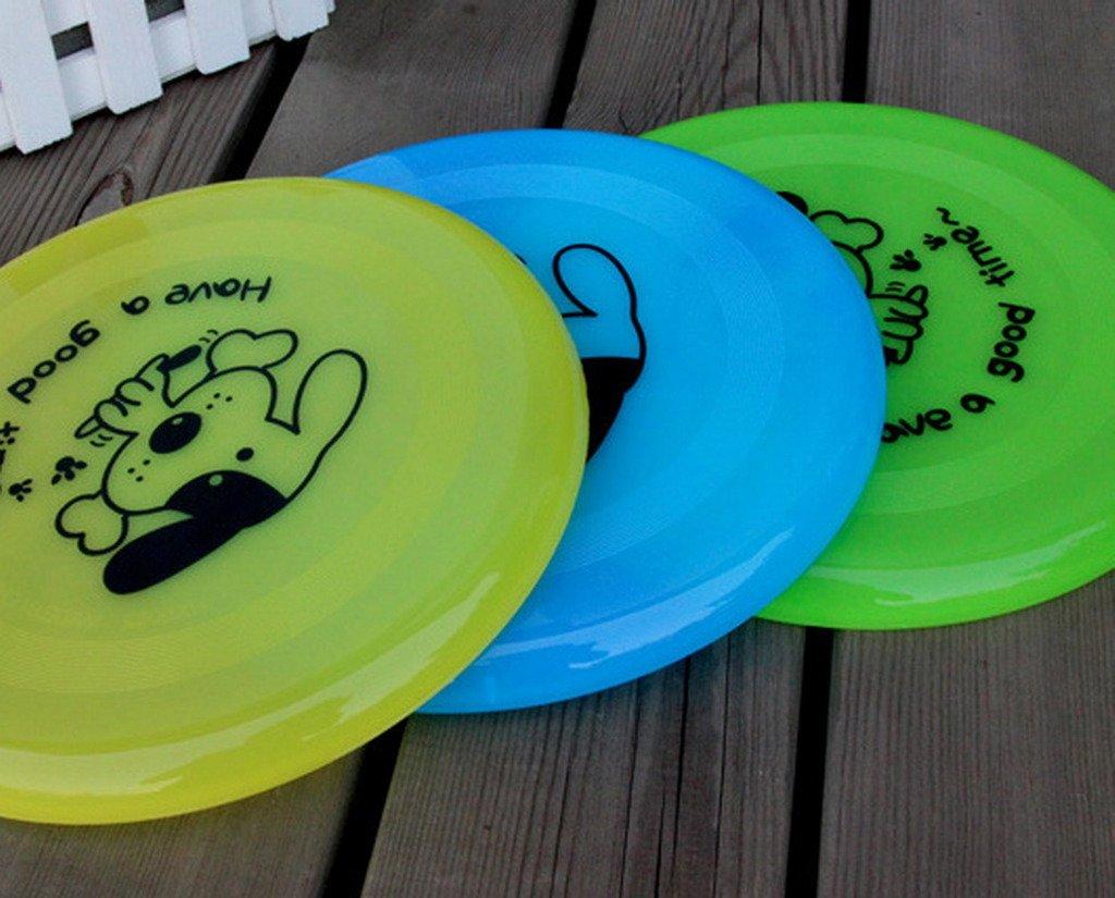 Amarillo La vogue 2Pcs Discos Voladores para Perros Gatos Juguetes Entrenamiento