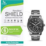 [6-Pack] RinoGear for Fossil Hybrid Smartwatch Q Machine Screen Protector [Active Protection] Full Coverage Flexible HD Crystal Clear Anti-Bubble Film