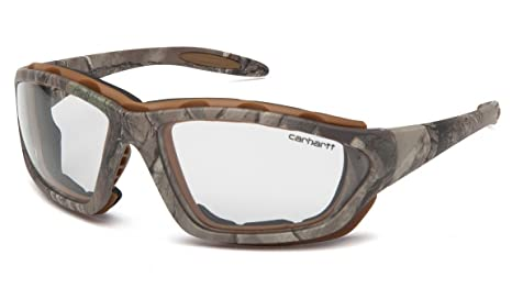 19df4c9082 Carhartt CHRT410DTP Carthage Safety Glasses with Realtree Xtra Frame and  Clear Anti-Fog Lens