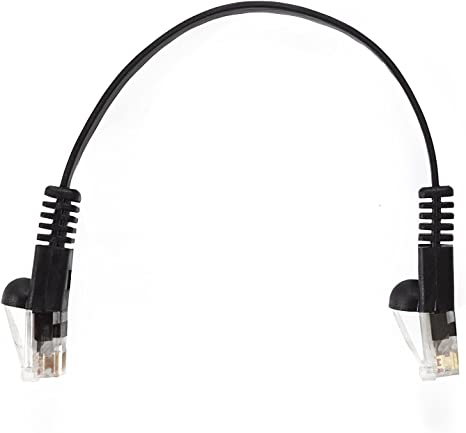 InstallerParts 100 Pack Ethernet Cable CAT6 Cable Flat 1 FT - Black - Professional Series - 10Gigabit//Sec Network//High Speed Internet Cable, 550MHZ
