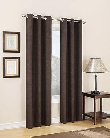 Carter Thermal Lined Grommet Top Curtain Panel, 40u0026quot;W X 84u0026quot ...