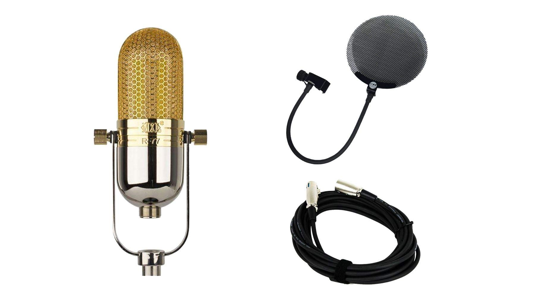 MXL R77 Microphone Bundle with 20-foot XLR Cable & Pop Filter (3 Items)