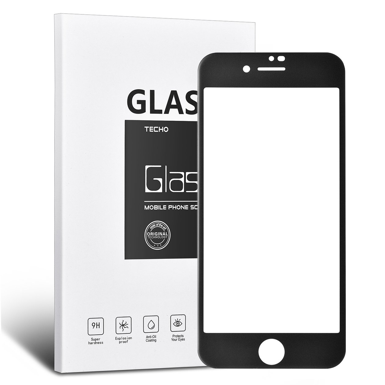 Techo Matte Screen Protector For Iphone 8 Plus 7 Full 2in1 Gravity Case Cover Tempered Glass 6 Coverage