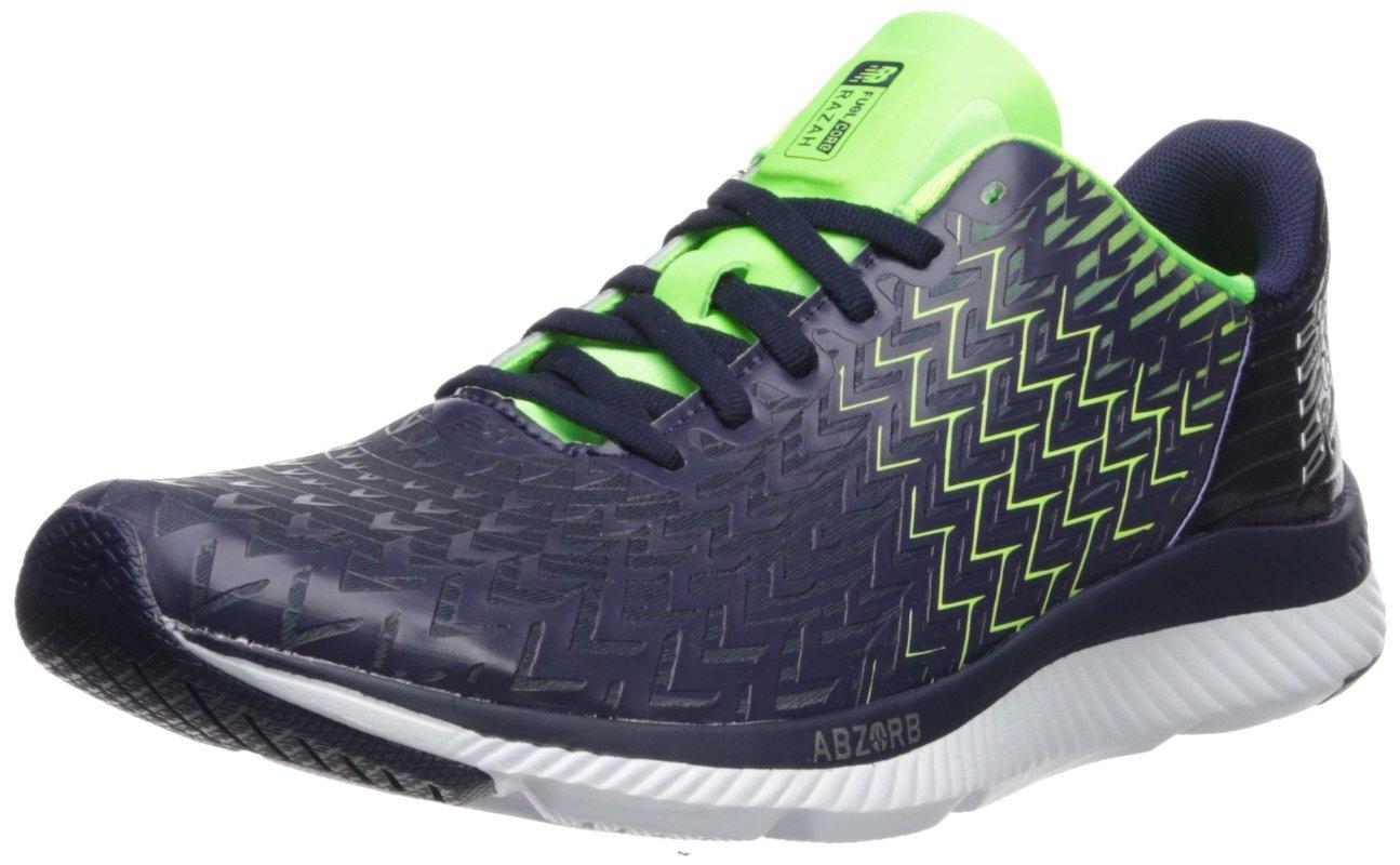 New Balance Men's Razah V1 Running Shoe B01NA8VDE0 12 D(M) US|Pigment/Energy Lime/Blue