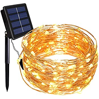 Solar String Lights Dolucky 150 LED 8 Modes Solar Powered Copper Wire Fairy Lights Outdoor  sc 1 st  Amazon.com & Amazon.com : Solar String Lights Dolucky 150 LED 8 Modes Solar ...