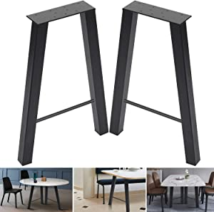 """22inch Set of 2 Industrial Rustic Type Steel Table Legs 22""""x15"""" Dining Table Legs 22""""Height 15""""Wide Metal Iron Chair Bench Coffee Table Legs Baking Finish"""