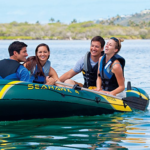 Intex Seahawk 4, 4-Person Inflatable Boat Set with Aluminum Oars and High Output Air Pump (Latest Model) by Intex (Image #2)