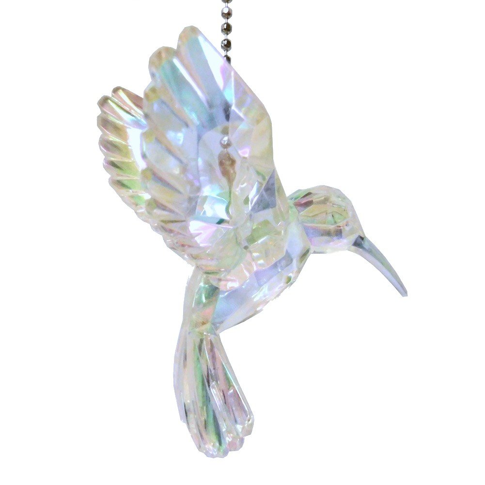 Acrylic Hummingbird Ceiling Fan Pull Light Chain Ornament (Clear)