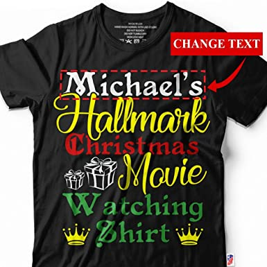 personalized hallmark christmas movie watching shirt customized change your name hallmark holiday small black