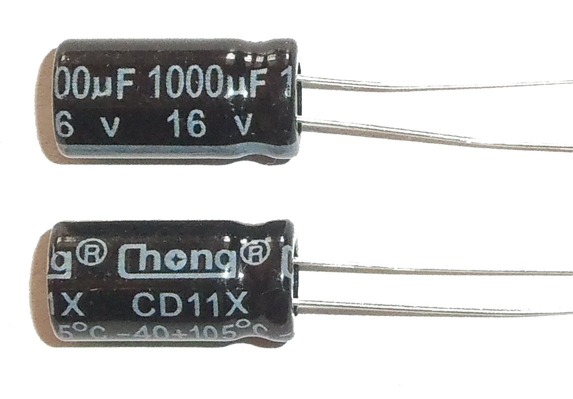 1000uF 16V 105c Radial Electrolytic Capacitor E-Projects 5 Pcs