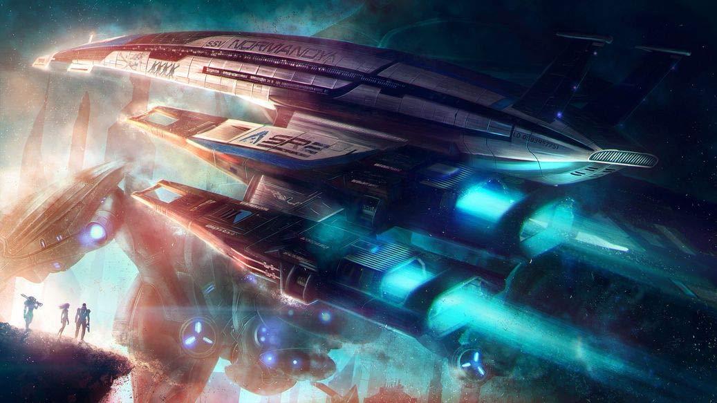25inch x 14inch//62cm x 35cm Mass Effect III Silk Poster