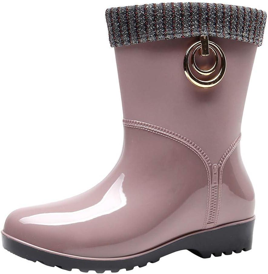 Botas de lluvia cálidas para adultos, botas de lluvia ...