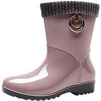 Botas de lluvia cálidas para adultos, botas