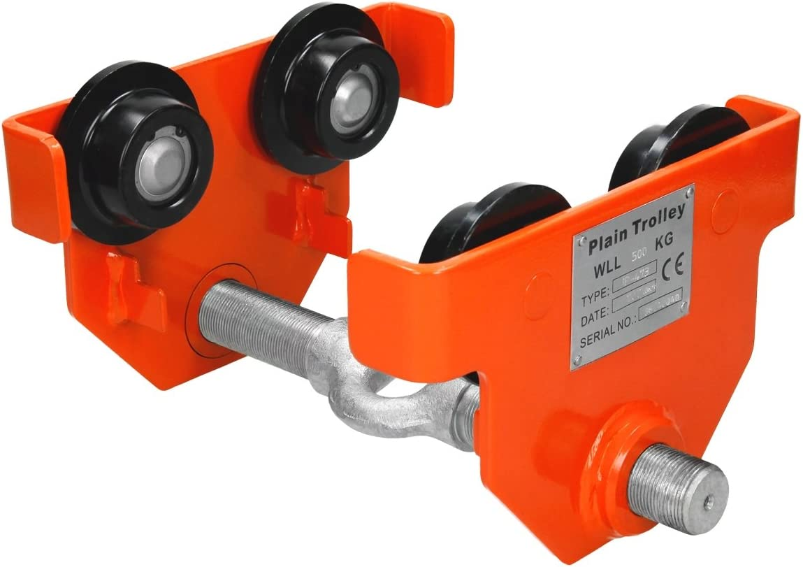 WilTec Chain Block with 1000kg Loading Capacity Hoist for easy Lifting 3m Chain Length /& Lifting Height