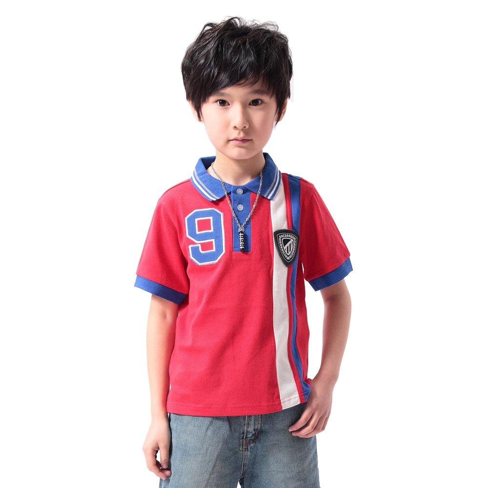 ANCORAGGIO Boys Solid Short Sleeve Polo Shirt
