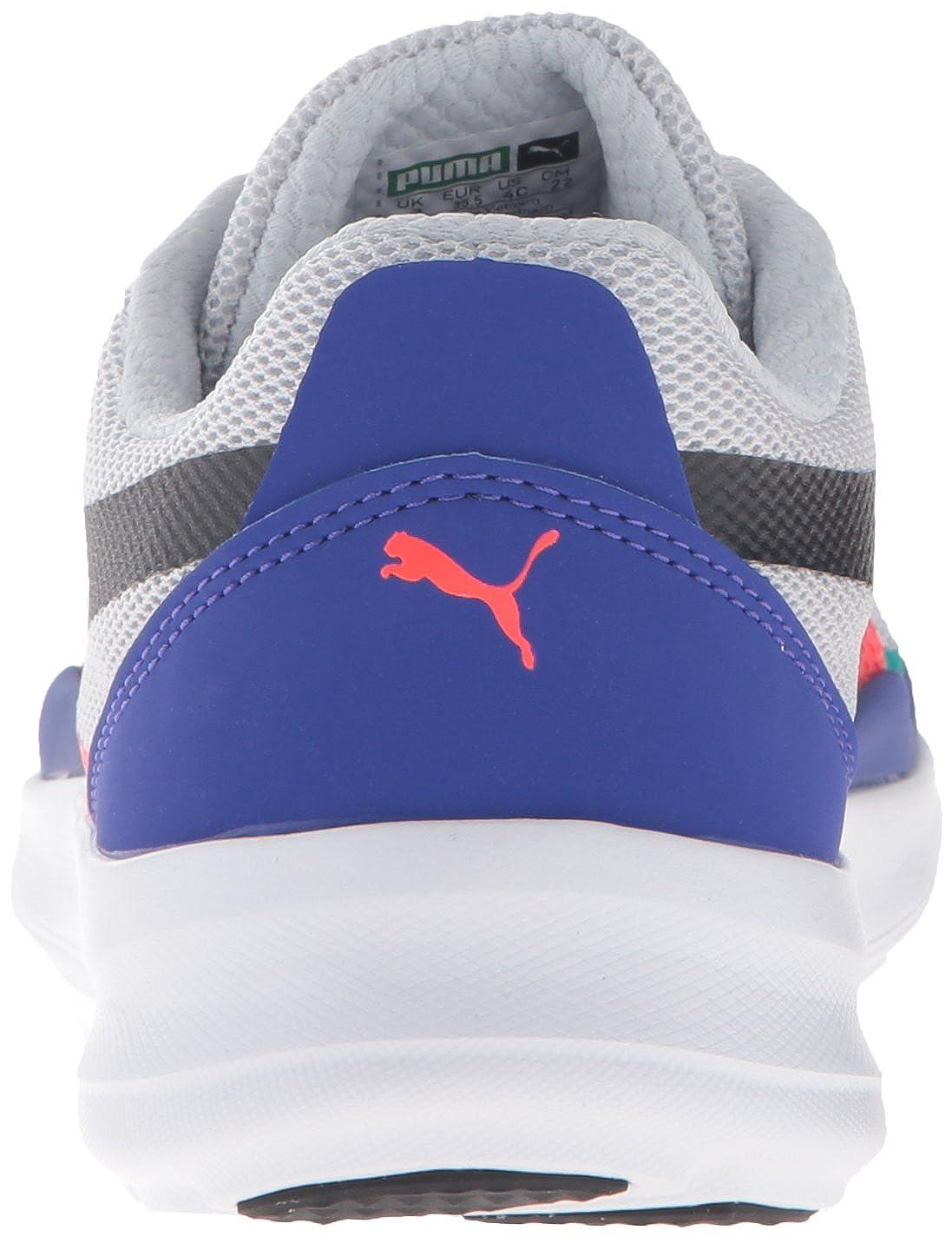 K Glacier Gray//Puma Black 4.5 M US Big Kid DUPLEX EVO JR Big Kid PUMA Duplex Evo Kids Sneaker