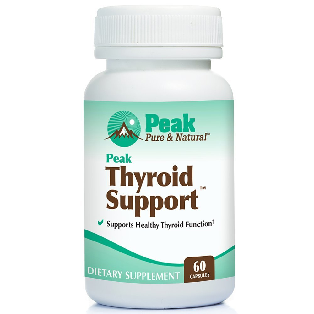 Peak Thyroid Support for Thyroid Health, Natural Energy Boost, Metabolism Supplement with Iodine, 60 Capsules