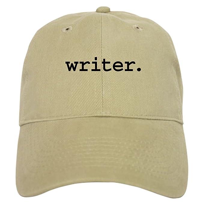 Amazon.com  CafePress - writer. Cap - Baseball Cap with Adjustable ... 7f15c53e6c4