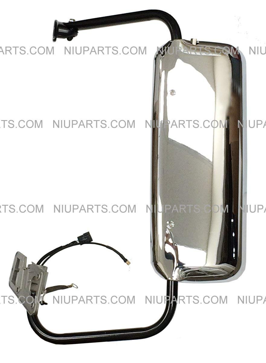 : Freightliner Columbia 2002-2013, Freightliner Coronado 2001-2010, Freightliner Century 1996-2010 Fit Driver Side OE Replacement Door Mirror Power Heated Chrome with Arm