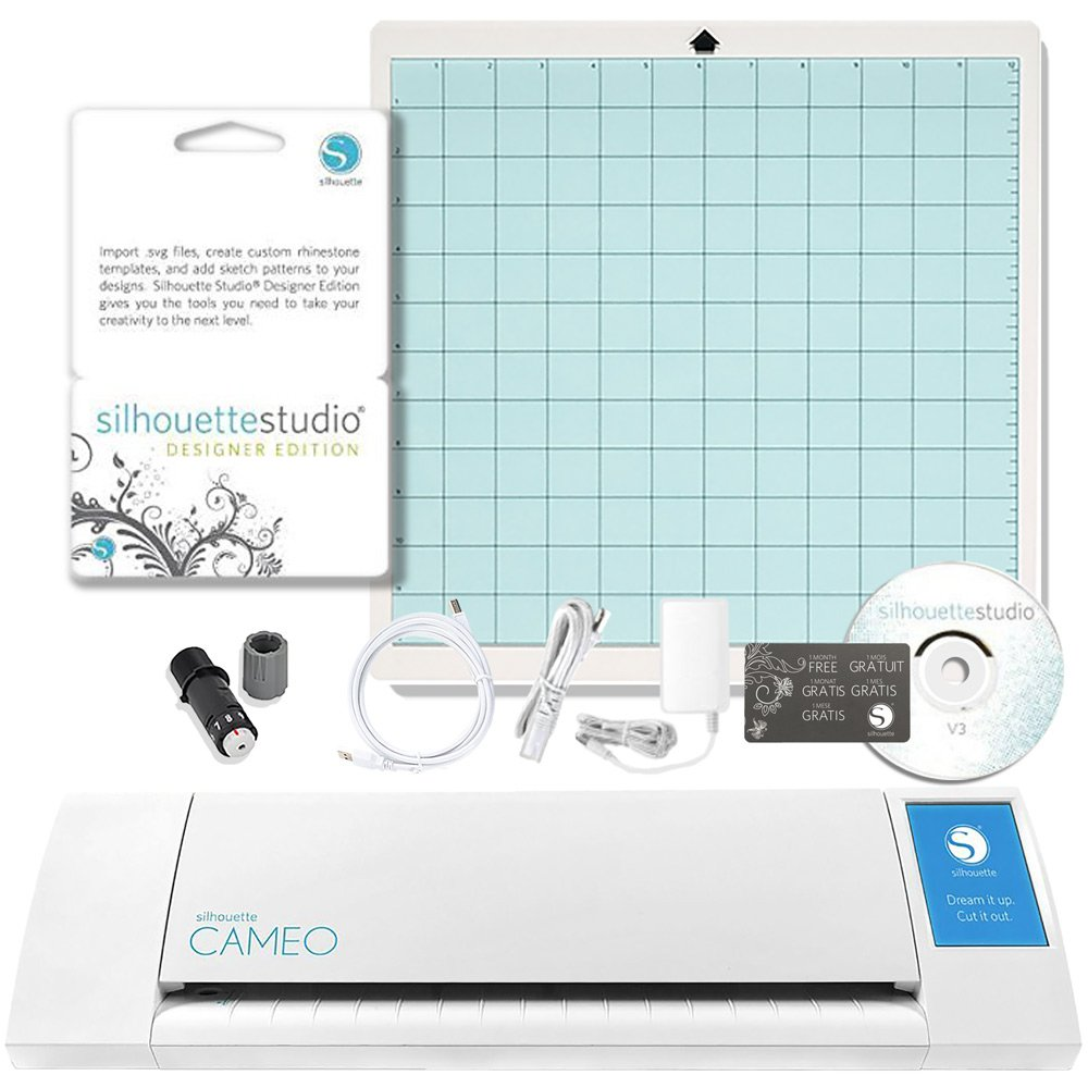 Silhouette America Silhouette Cameo Digital Craft Cutter with Silhouette Studio Designer Edition Software by Silhouette America