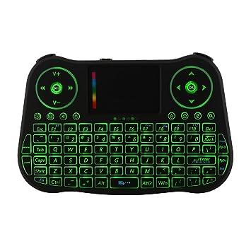 Kreema MT08 2.4G Mini teclado inalambrico Fly Air Mouse control remoto telclado numerico del panel tactil para HTPC/Android Smart TV Box/PAD/PC/PS3/XBOC360: ...