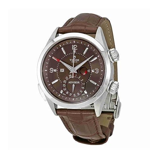 Tudor Patrimonio asesor Cognac Dial Mens alarma reloj 79620tc-brls: Amazon.es: Relojes
