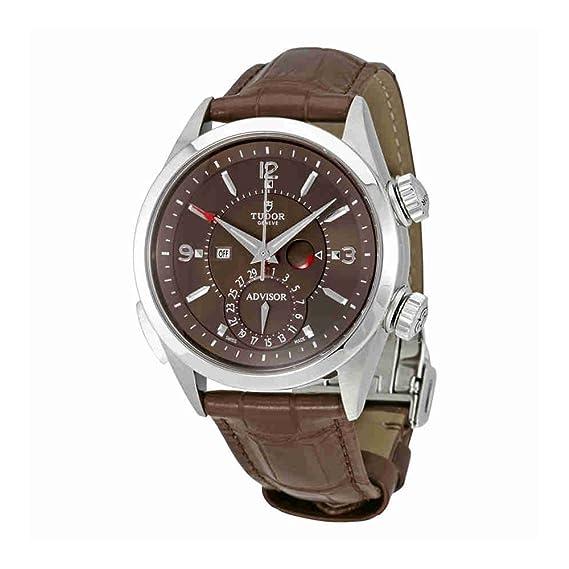 Tudor Patrimonio asesor Cognac Dial Mens alarma reloj 79620tc-brls