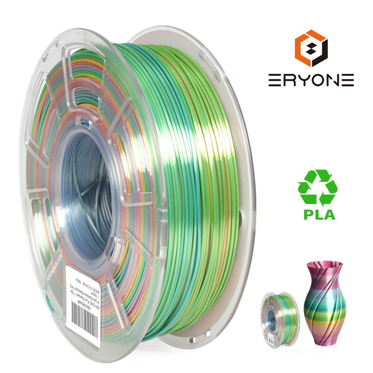 Filamento PLA de 1,75 mm, multicolor, filamento multicolor ERYONE ...