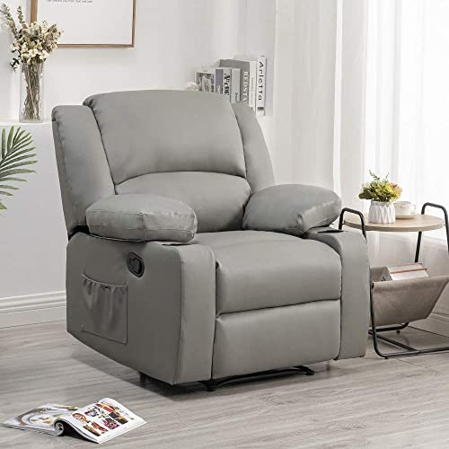 S F Living Modern Padded Leather Recliner
