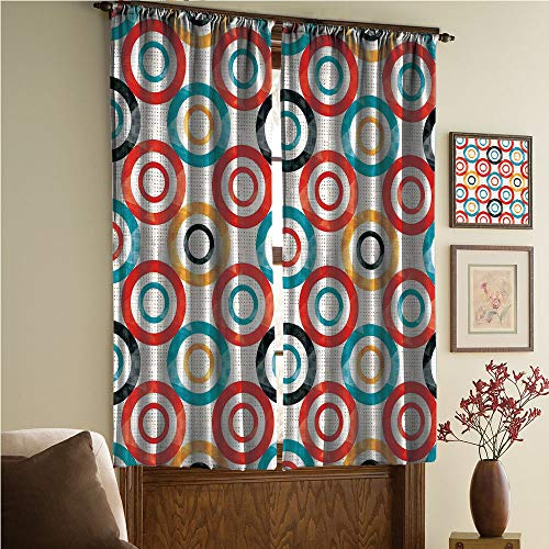 whitepurplecassie curtain iPrint Stylish Window Curtains,Multicolor,2 Panel Set Window Drapes,Trance Pattern Nightclub Theme Modern Music Design 108Wx95L Inch ()