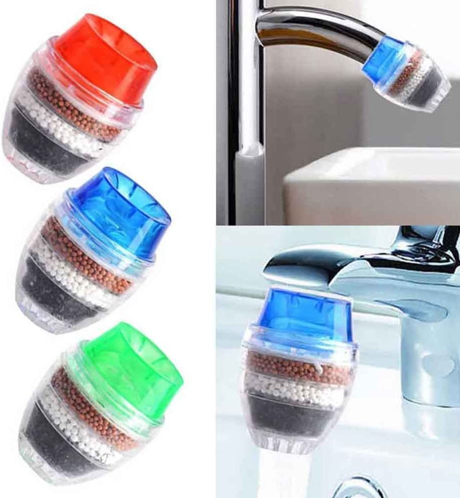 happyhouse009 Faucet Water Filter Activated Carbon Home Kitchen Faucet Tap Water Clean Mini Pro Purifier Filter
