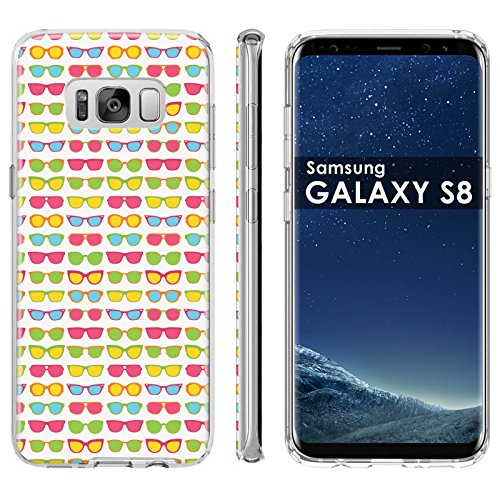Samsung Galaxy S8 Soft Mold [Mobiflare] [Clear] Thin Gel Protect Cover - [Sunglasses] for Samsung Galaxy [S8] [5.8