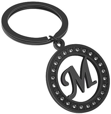 Amazon.com: Giftale - Llavero con colgante de letra M para ...