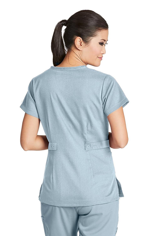 Amazon Greys Anatomy 4153 Womens Mock Wrap Top Moonstruck M