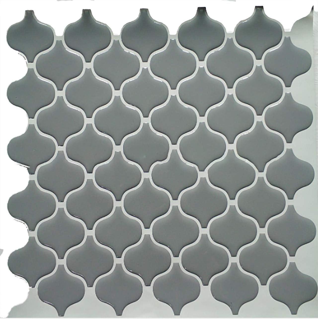 Amazon Gentillesse モロッコタイル シール 輸入 3d モロッコタイル 柄 工業系インテリア アジア グレー Diy リフォーム 26cm 26cm Iphoneケース 壁紙