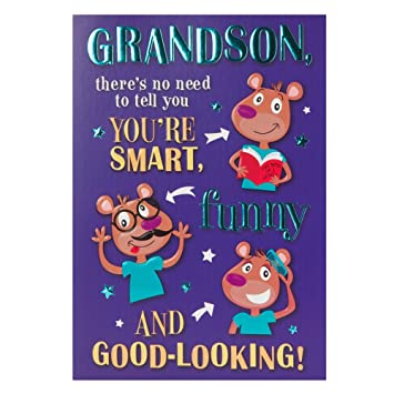 Hallmark birthday card for grandson smart funny and good looking hallmark birthday card for grandson smart funny and good looking medium bookmarktalkfo Gallery