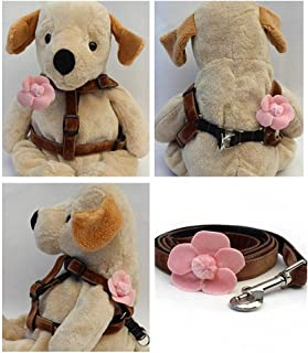 "product image for Diva-Dog 'Camellia Pink' Custom 5/8"" Wide Dog Velvet Step-in Harness with Plain or Engraved Buckle, Matching Leash Available - Teacup, XS/S"