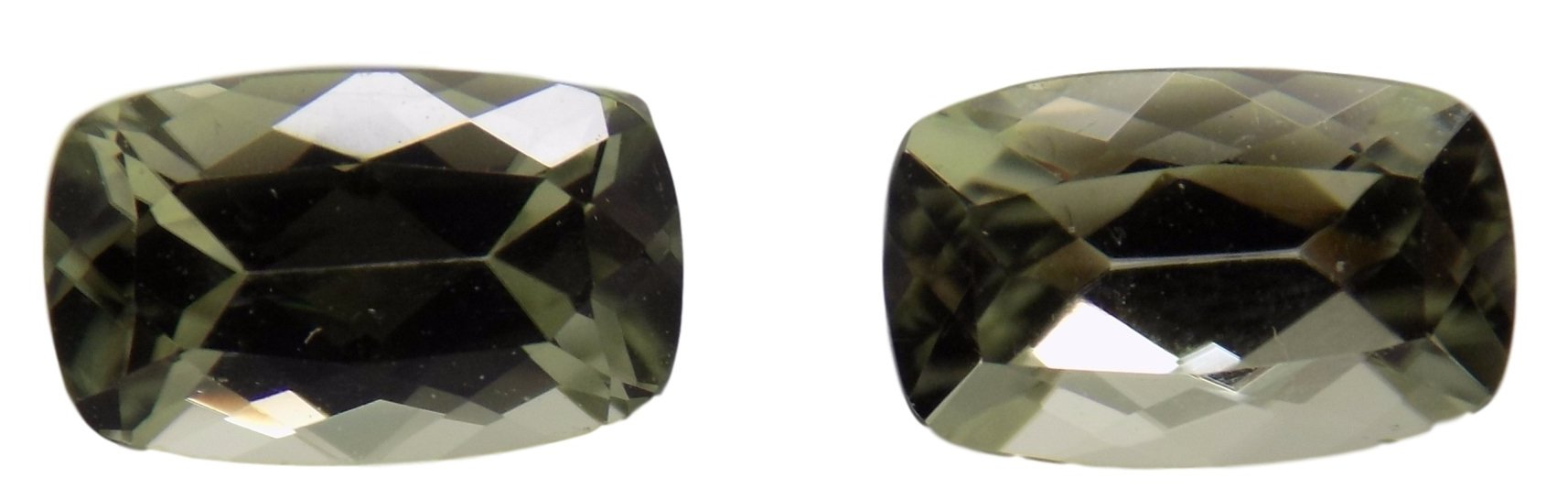 Zultanite Natural Loose Gemstone 8x5mm Cushion Cut Pair (2) 2.57 CTTW Cert of Auth B004